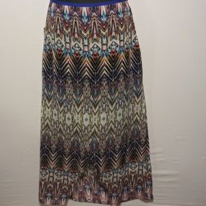 Beautiful Multi Color Faux Wrap Skirt size 12 NWT